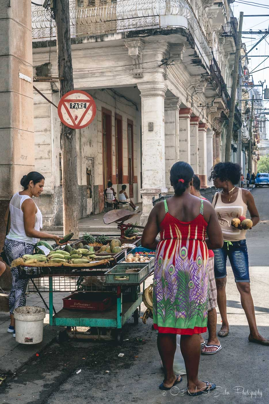 Veggie cart on a street in Havana, Cuba