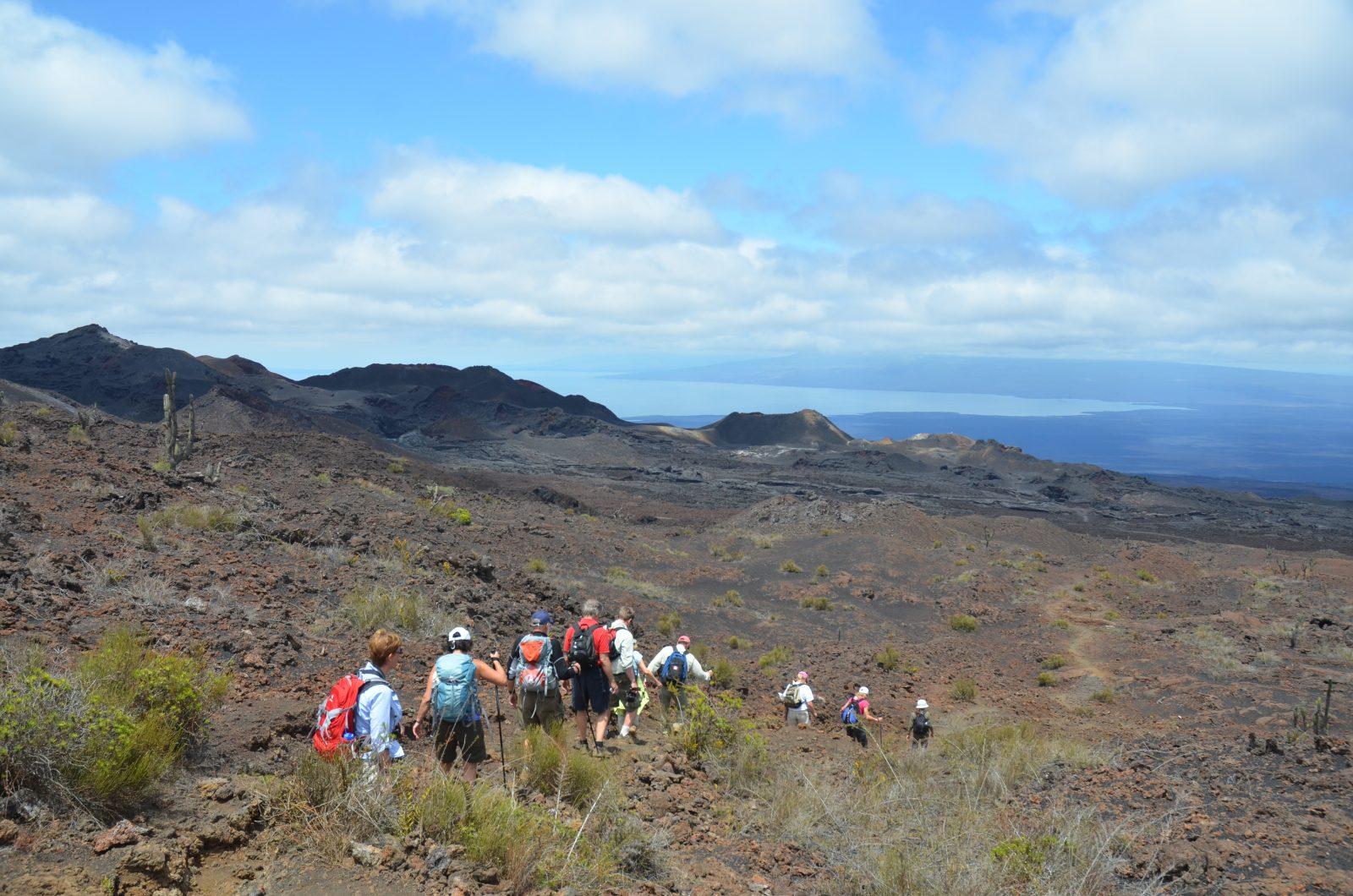 Sierra Negra Volcano Hike on Isabela. Photo courtesy of Galakiwi