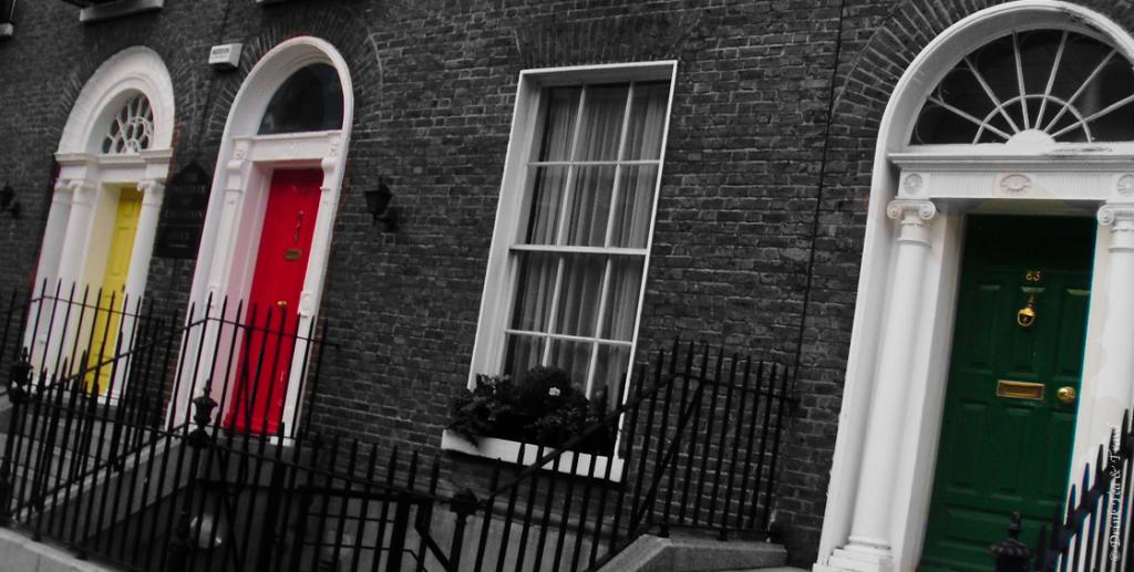 Dublin colourful Georgian doors