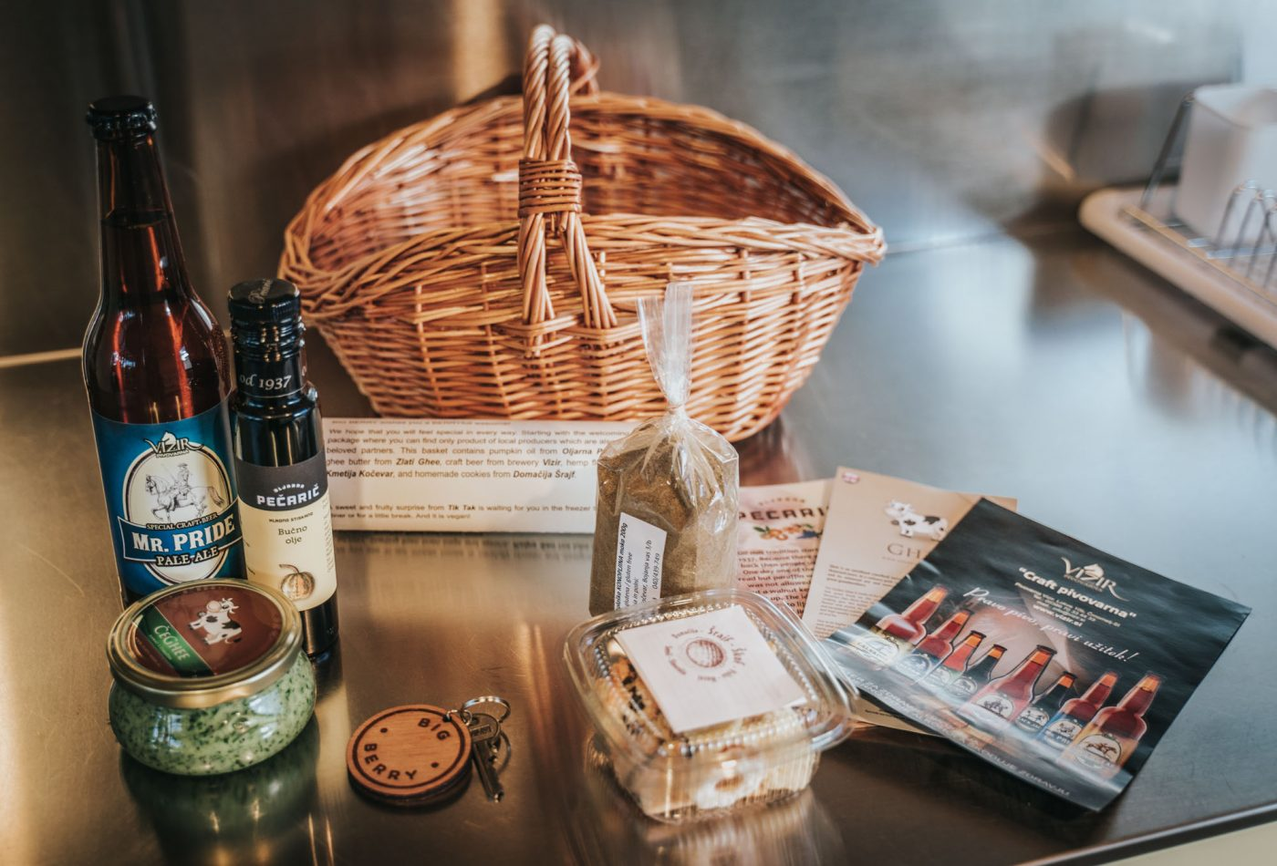 Welcome basket at Big Berry