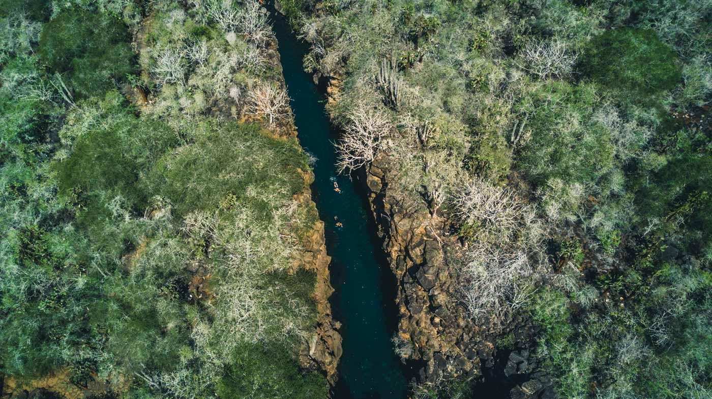 Las Grietas from above