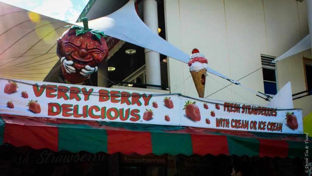 Strawberry ice-cream stand
