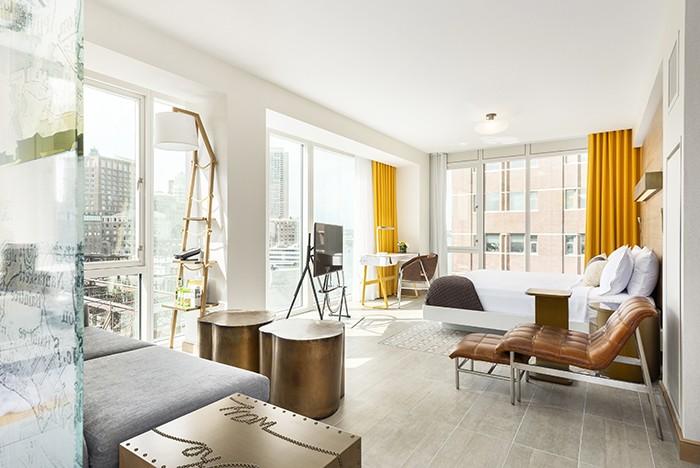 eco-friendly winter getaway: Envoy Hotel suite