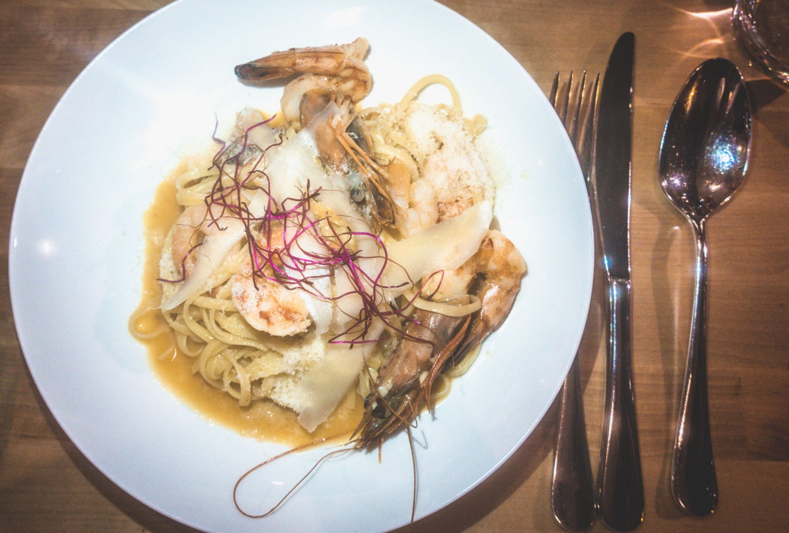 Things to do in Tallinn: Seafood pasta at Enotecca Lucca