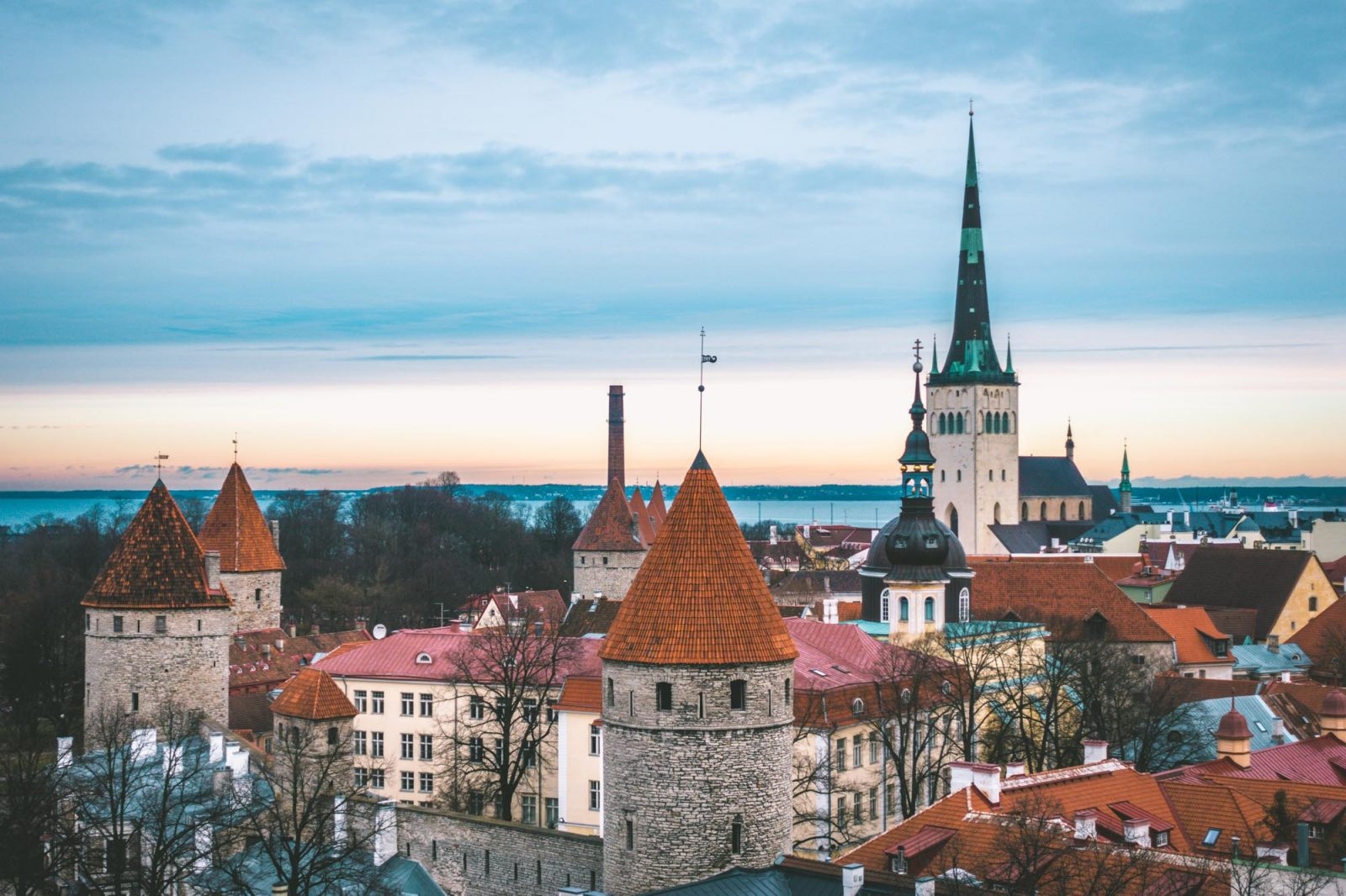 Things to do in Tallinn: St Olaf's Church rises above all other buildings in Old Town Tallinn
