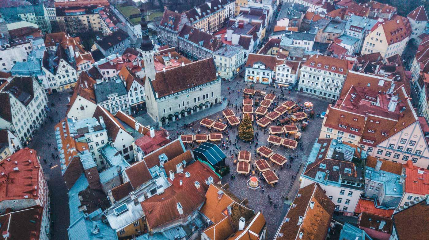Christmas Market in the Old Town Square, Tallinn, Estonia