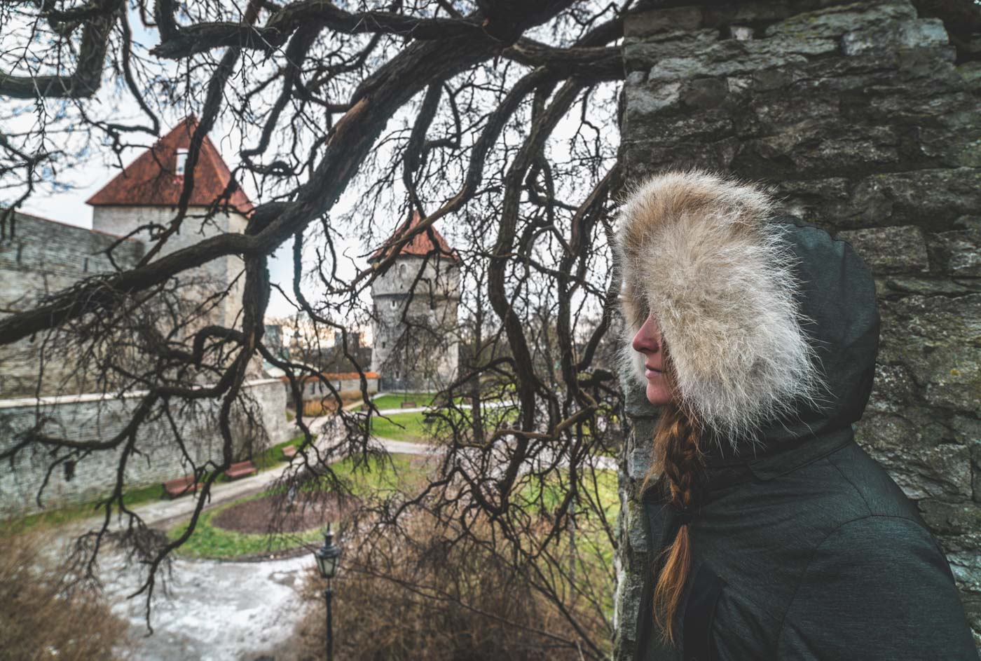 Things to do in Tallinn: Oksana at the Town Wall