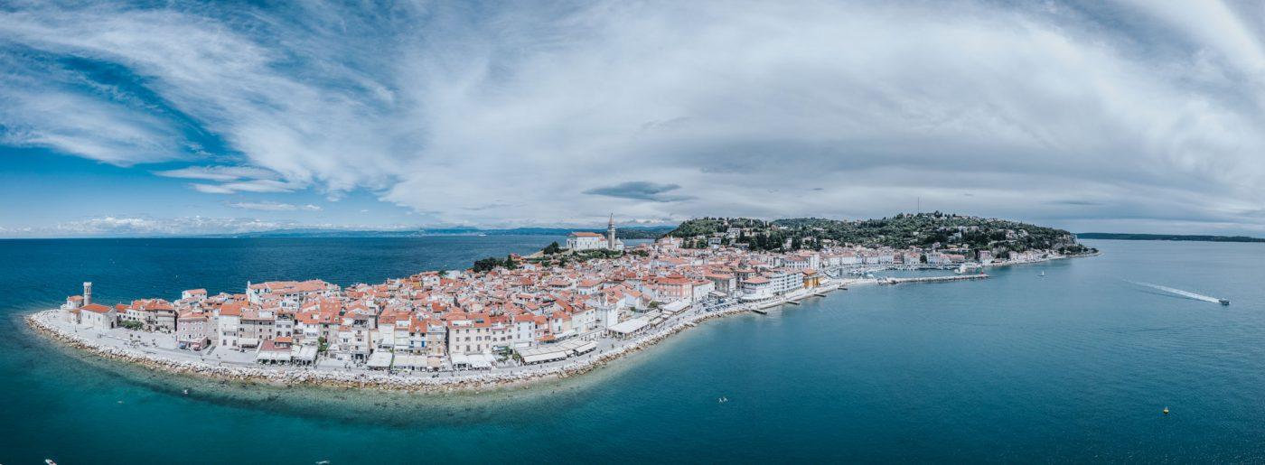 Panorama of Piran, Slovenia