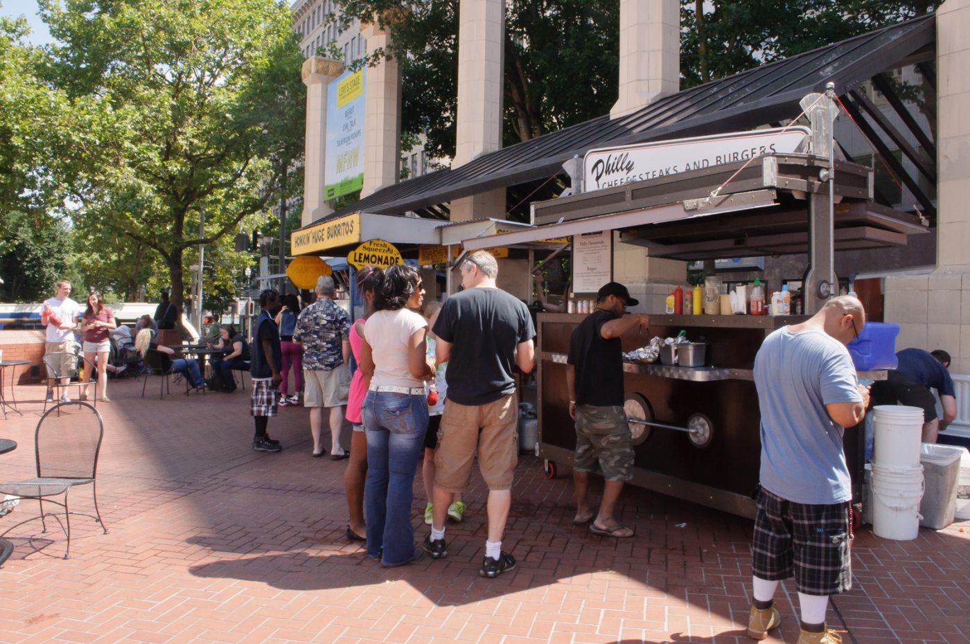 Things to do in Portland Oregon: Food Carts Pioneer Square