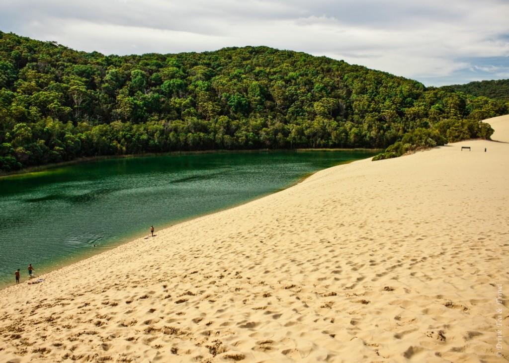 Camping on Fraser Island: Lake Wabby, Fraser Island