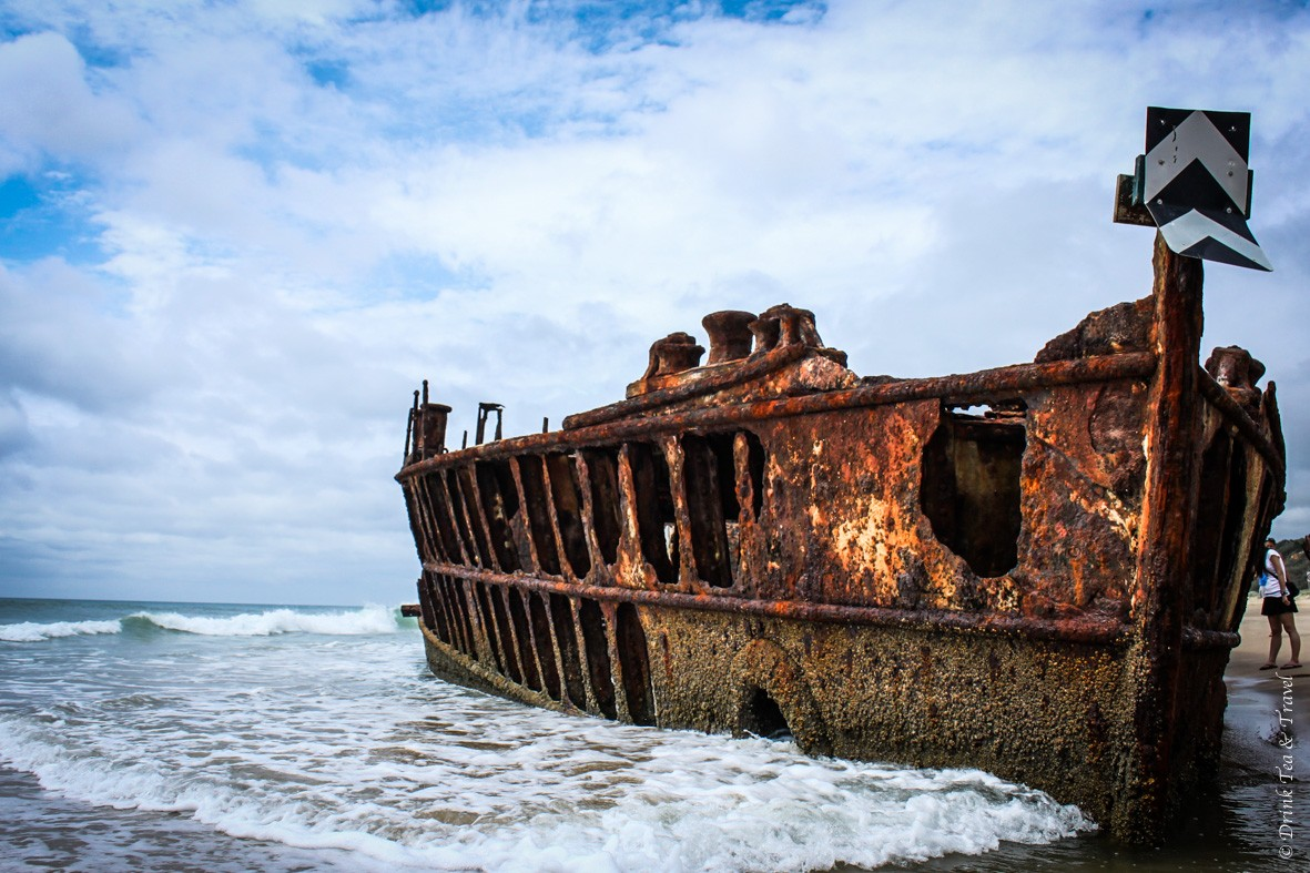 Camping on Fraser Island: Maheno Shipwreck, Fraser Island