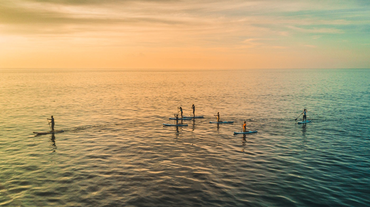 Sunset SUP on Floreana Island, Galapagos