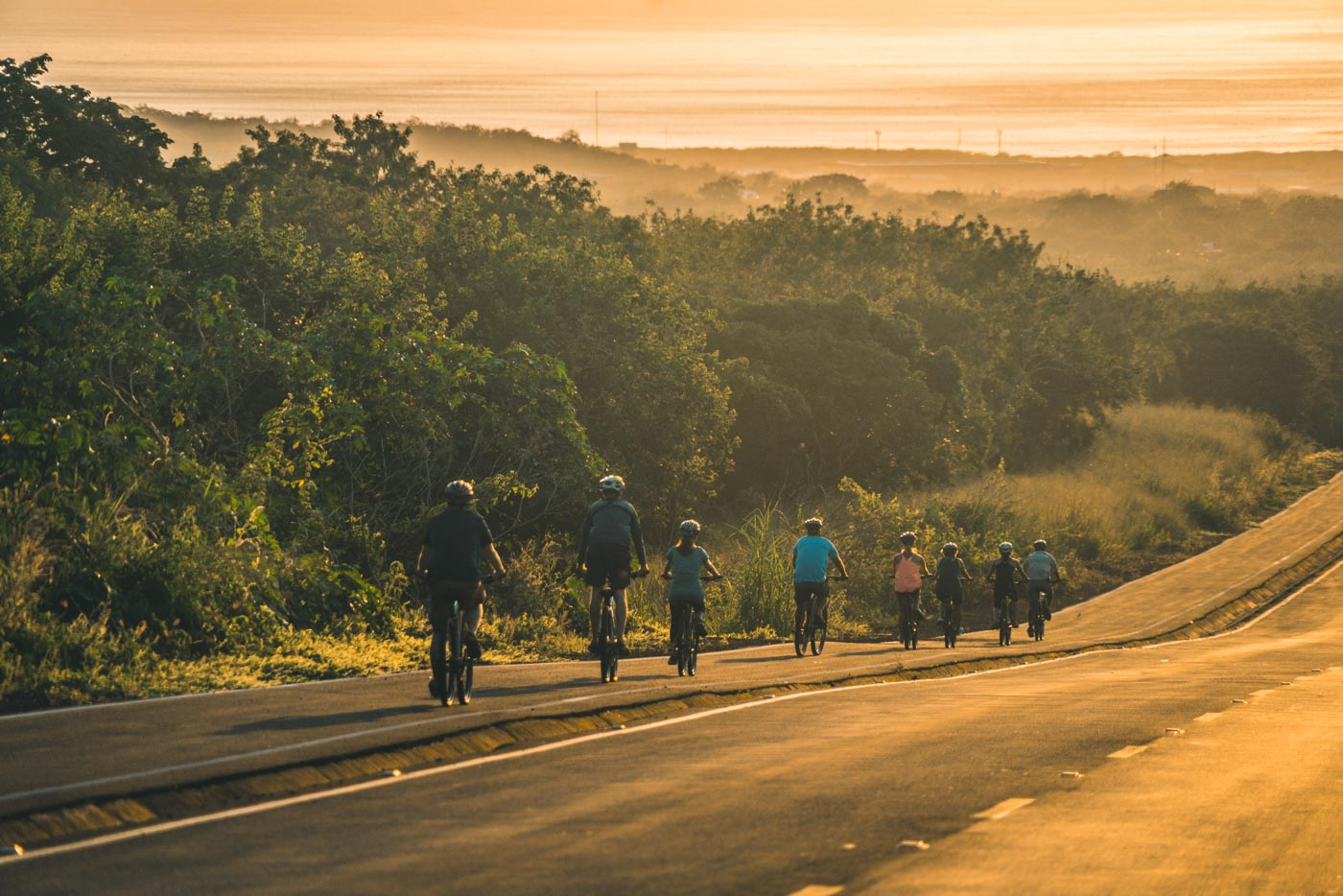 Sunset bike ride on San Cristobal Island, Galapagos