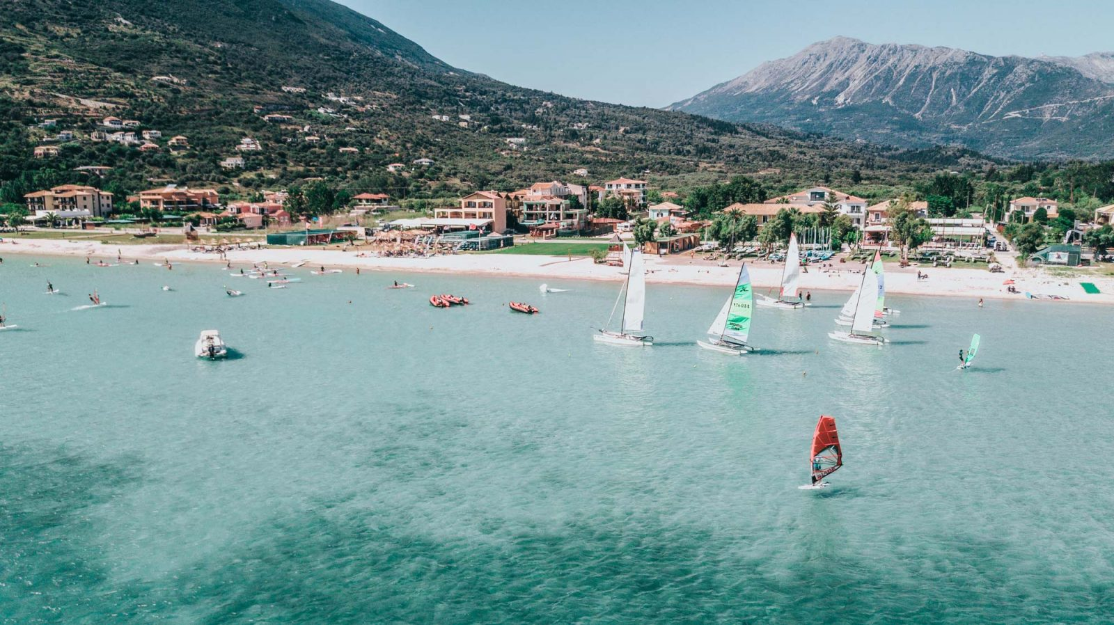 Vassiliki Beach is one of the best beaches in Lefkada for windsurfing