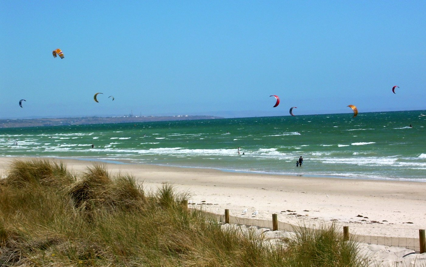 Windy day on Henley Beach, Adelaide. Photo by Kerry J via Flickr CC