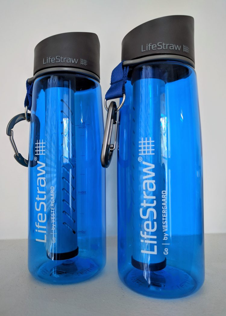 best way to drink water: lifestraw water bottle