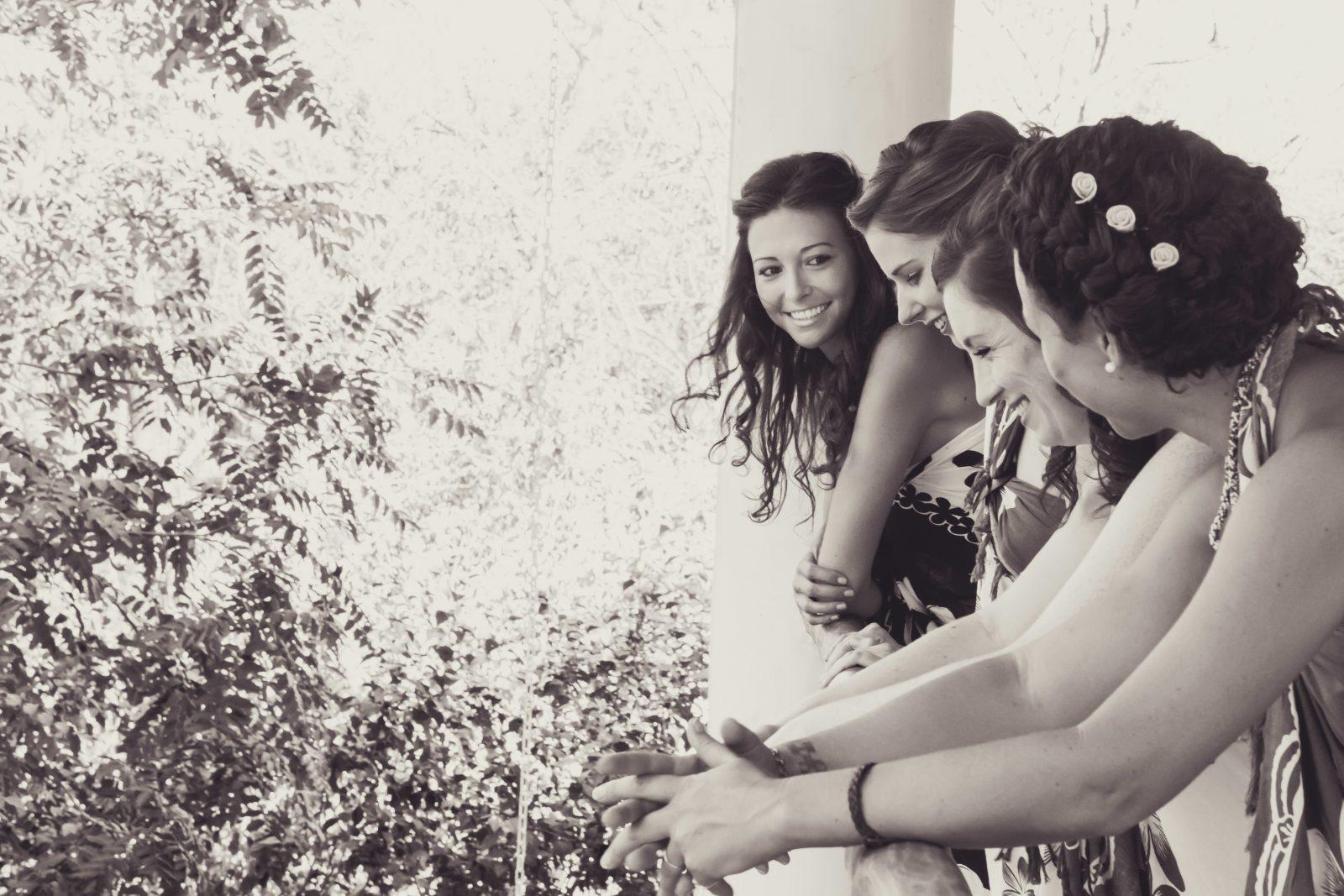 Oksana and the girls at the wedding. Costa Rica