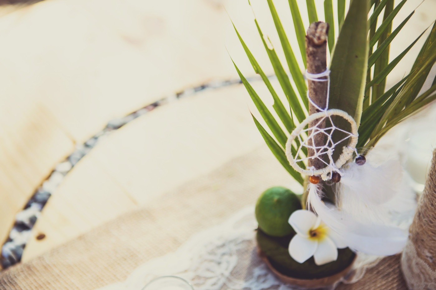 Centrepieces and and table decor. Costa Rica wedding