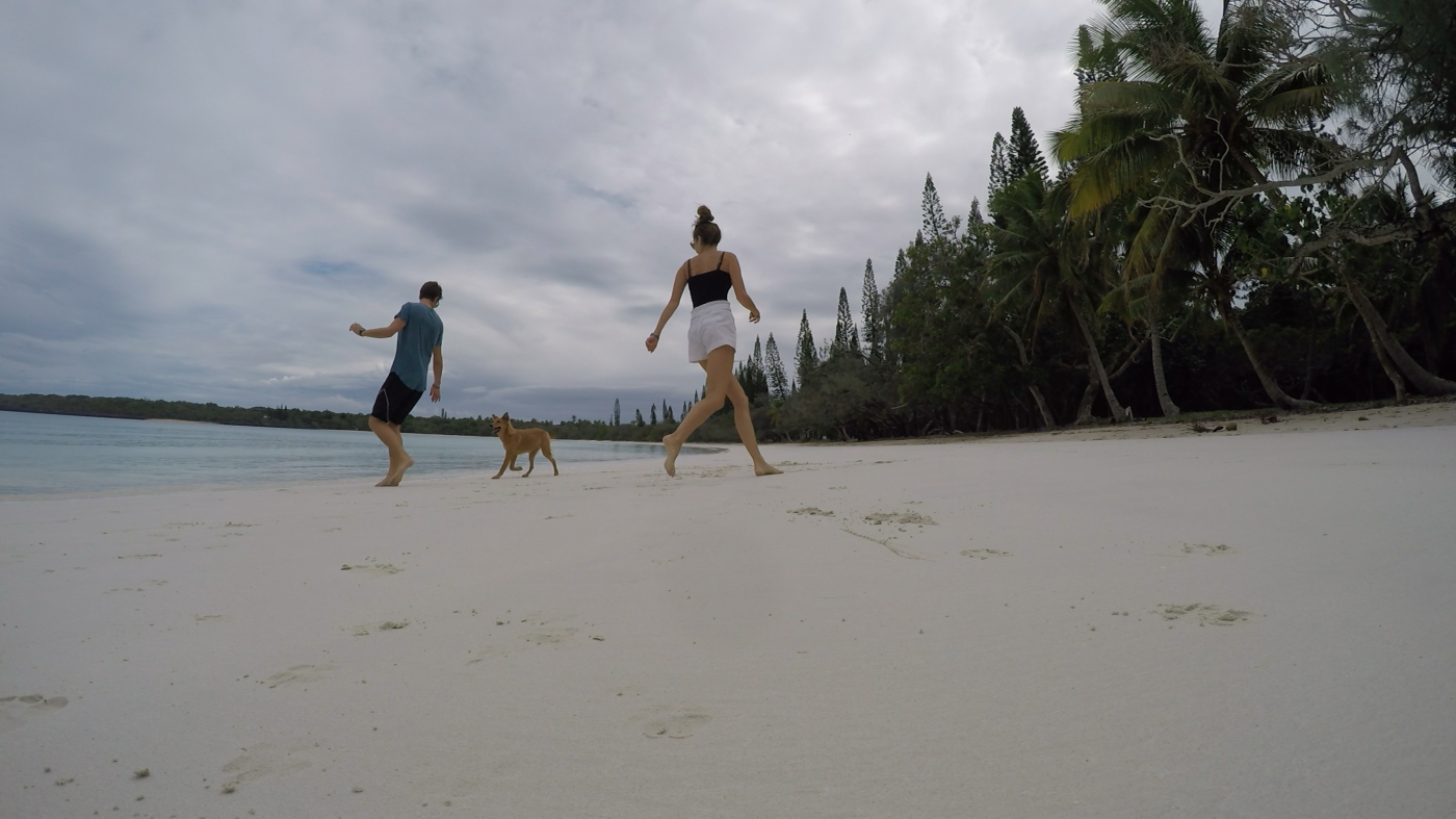 Saving Money for Travel: Having fun on the beach