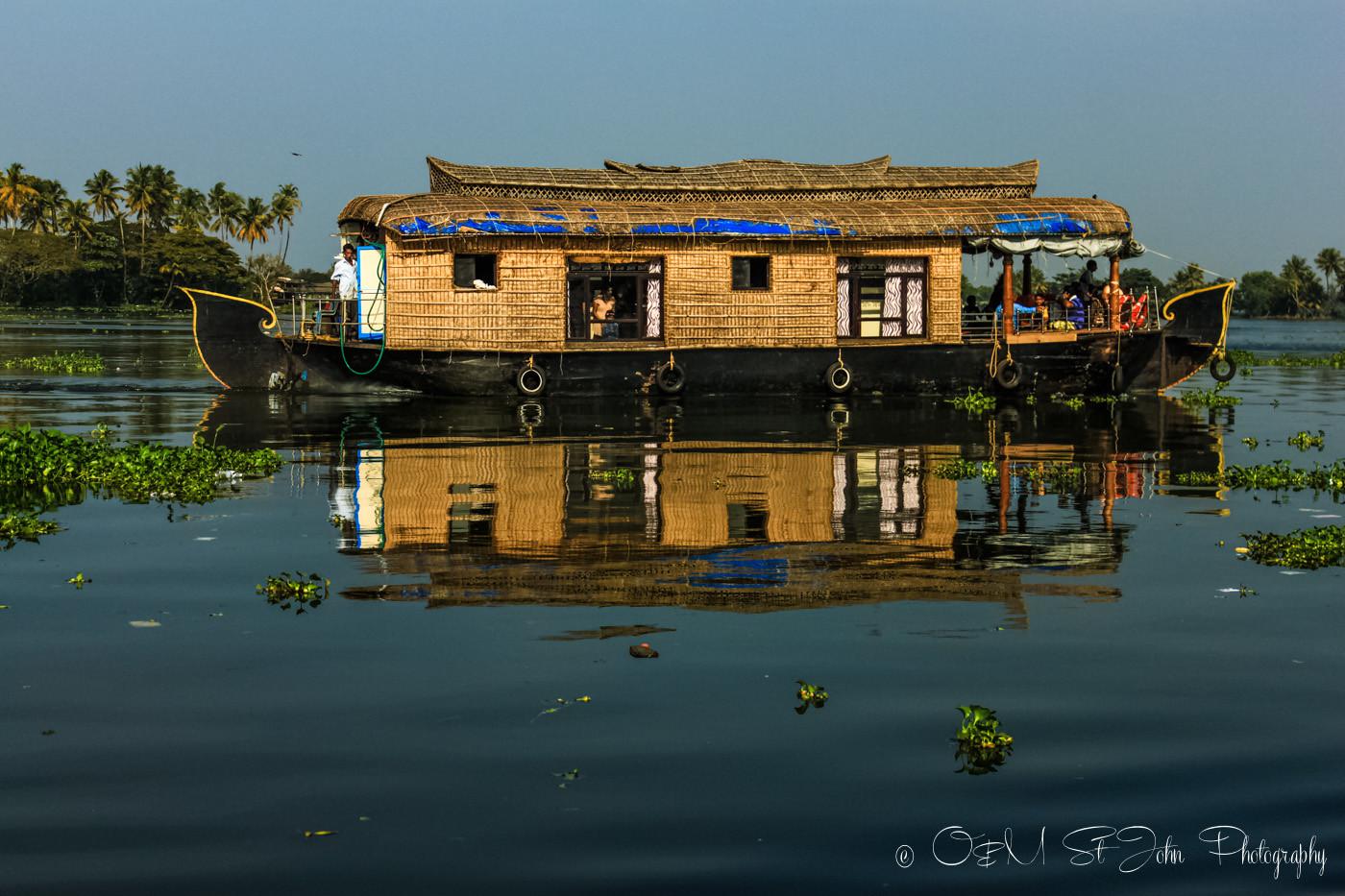 Kettuvallams (house boat) in Kerala Backwaters, India