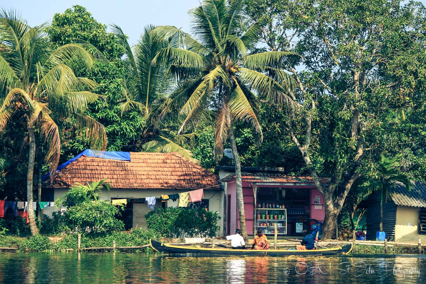 Shop on the shores of Kerala Backwaters. India
