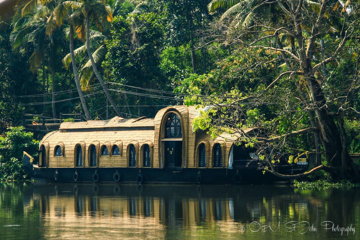 Luxurious Kettuvallam (house boat) in Kerala Backwaters, India