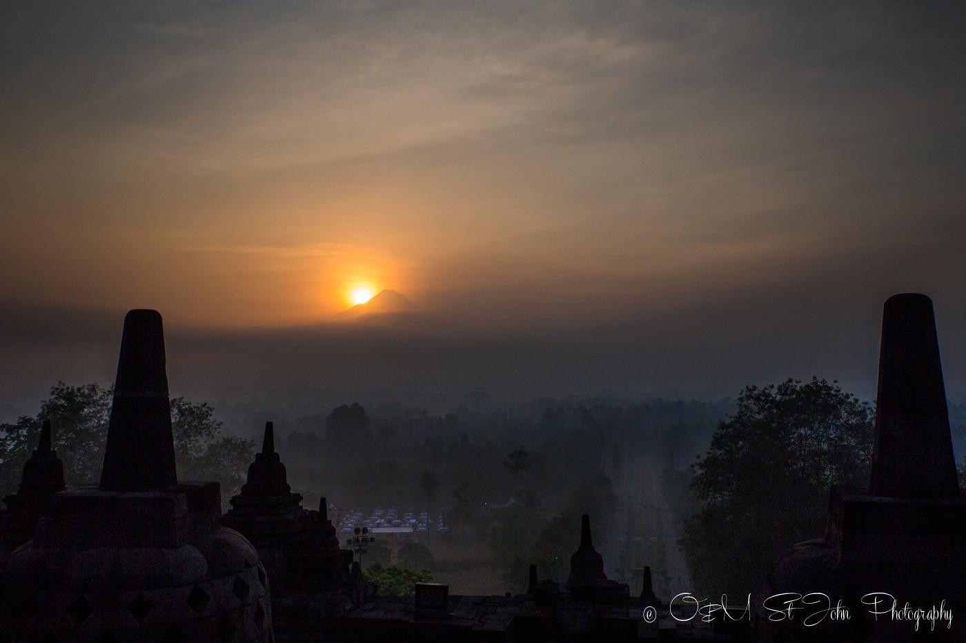 First light at Borobudur, Central Java, Indonesia