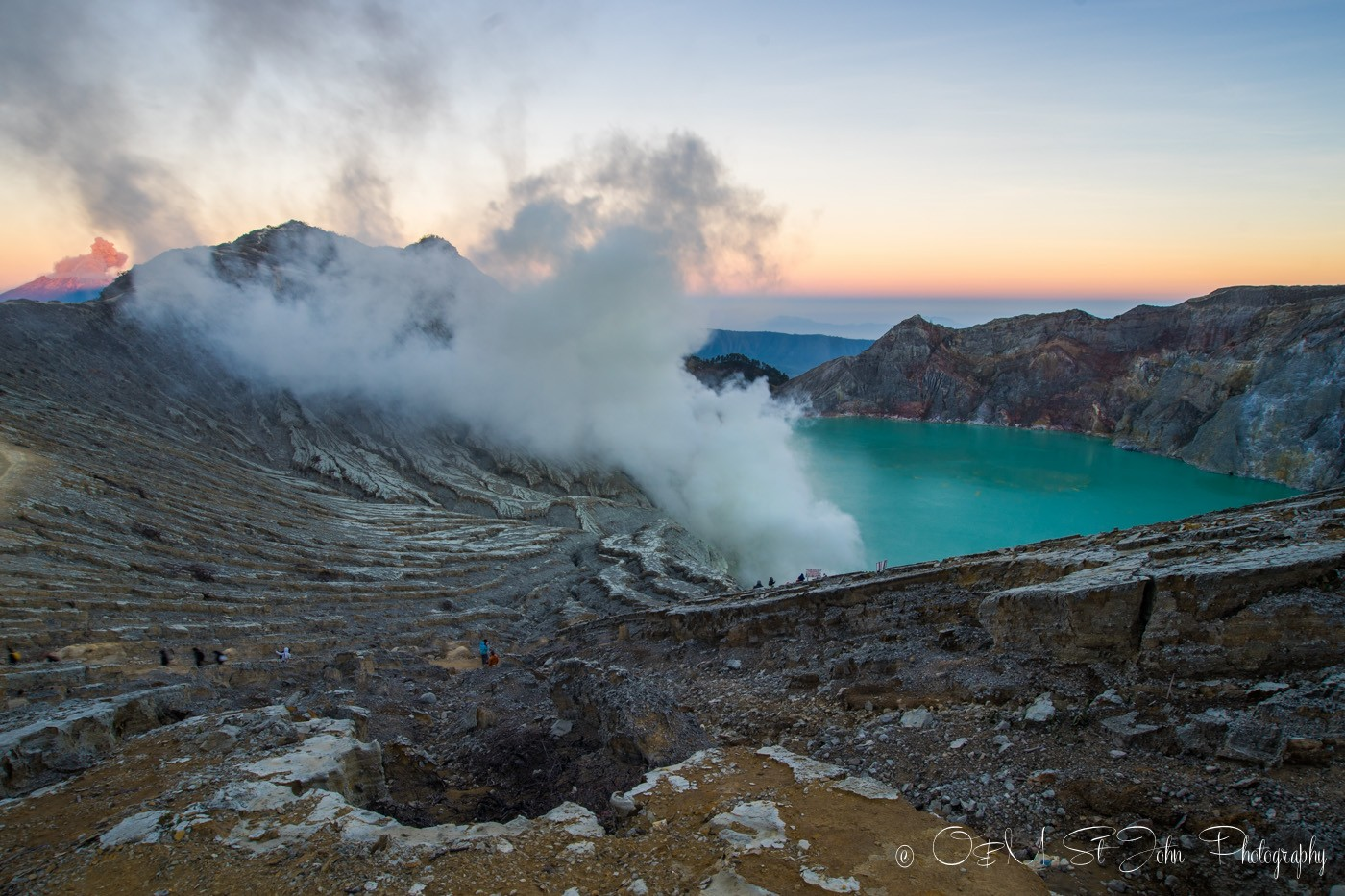 Sunrise over Ijen Plateau, East Java. Indonesia