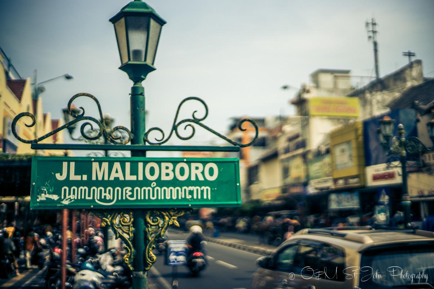 places to visit in yogyakarta: Jalan Malioboro, popular shopping promenade