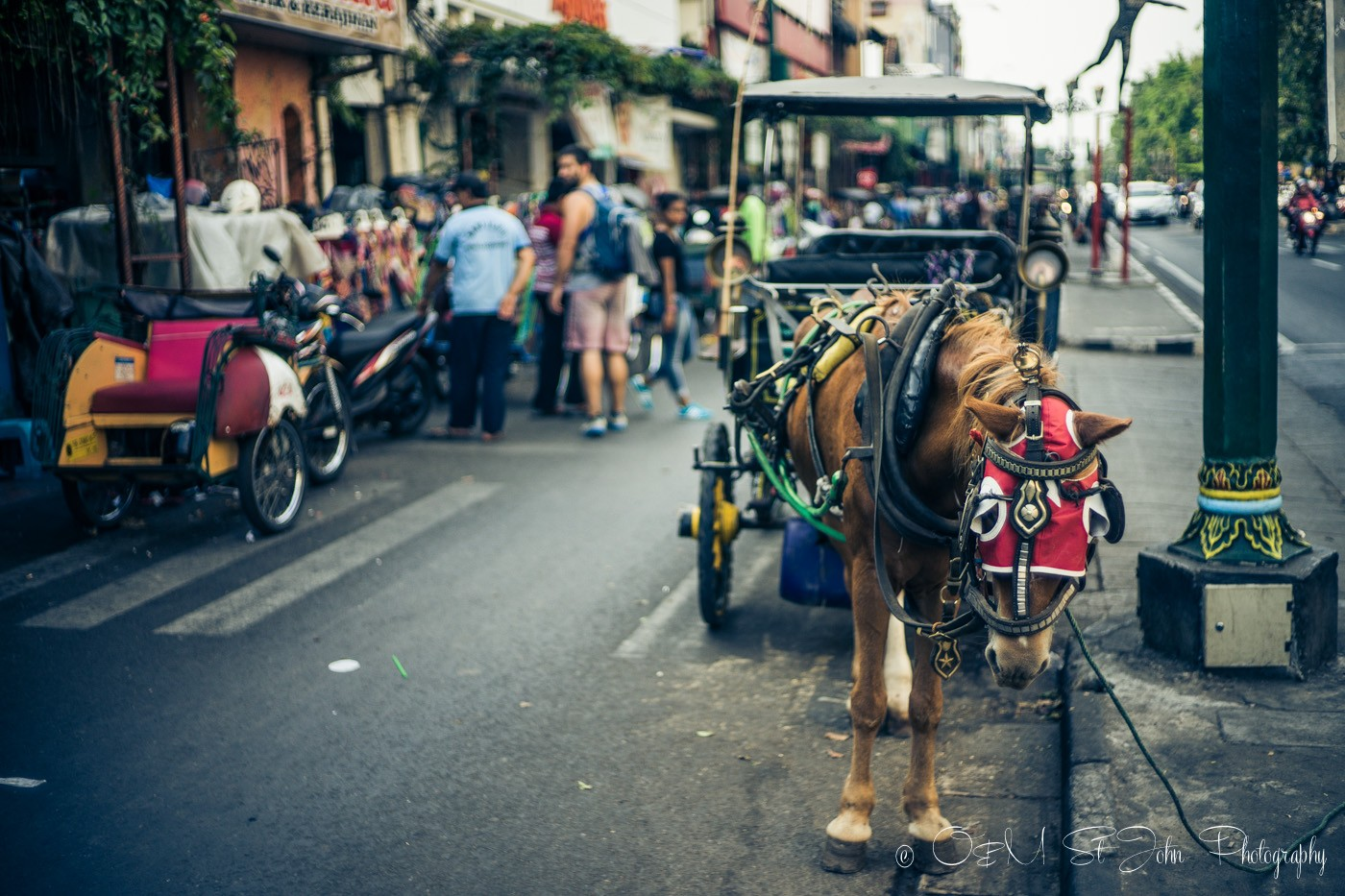 Yogyakarta attractions: Horse carriage on Jalan Malioboro