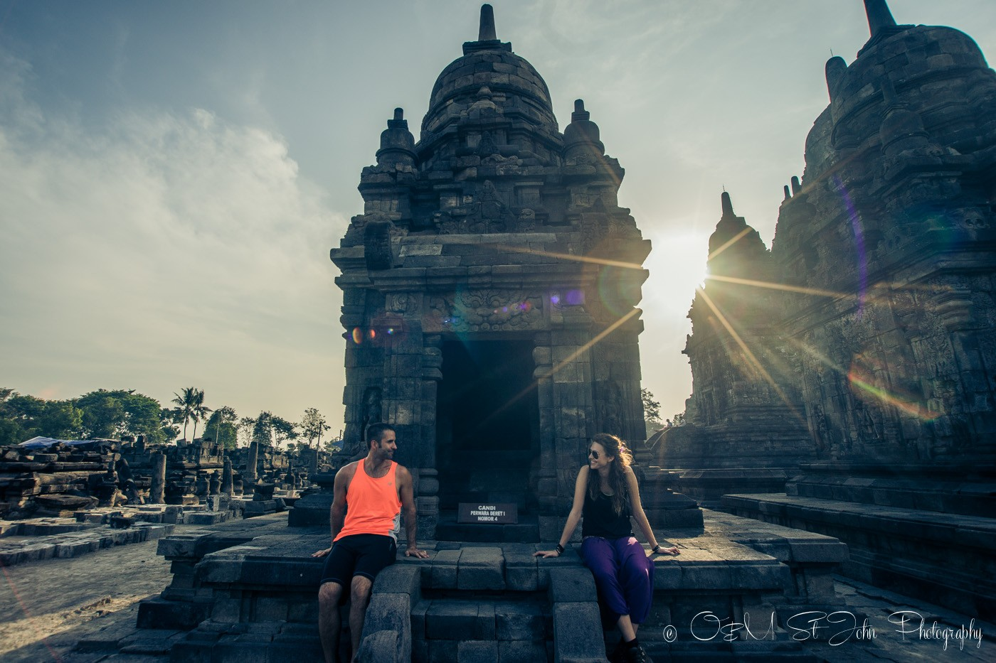 Max & Oksana at Prambanam, Indonesia