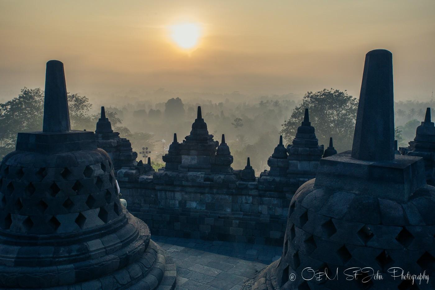 Borobudur Sunrise Tour. Java Indonesia
