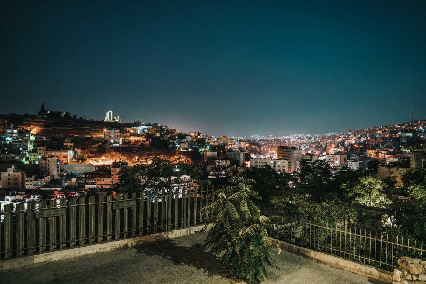 Capital of Jordan, Amman, at night