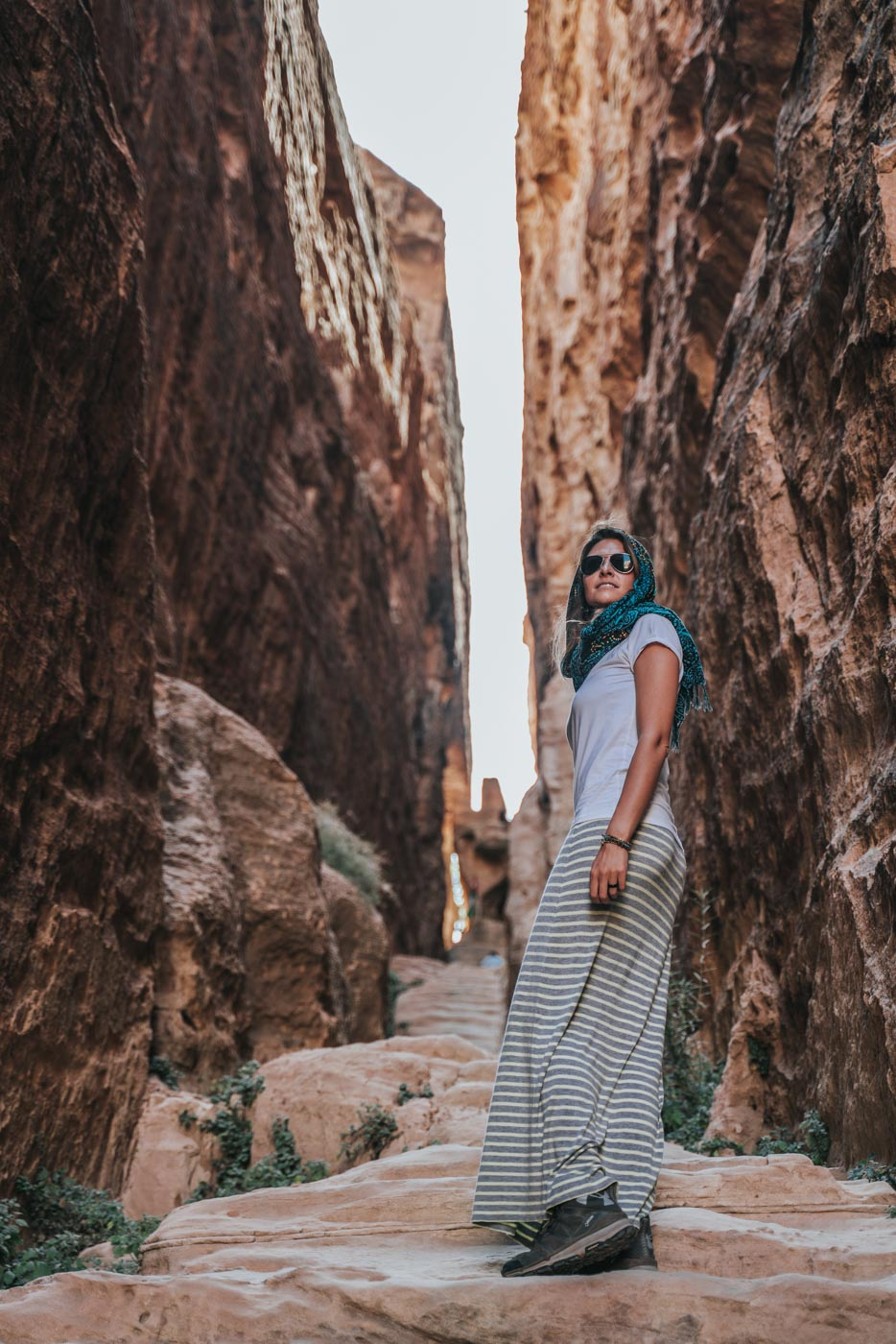 Jordan Tour: Oksana at Little Petra