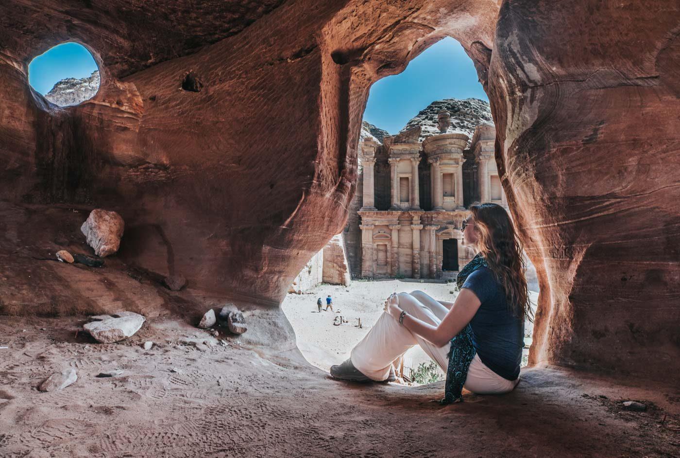 Overlooking the Monastery in Petra, Jordan
