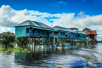 A Journey Through Kampong Phluk Floating Village in Cambodia