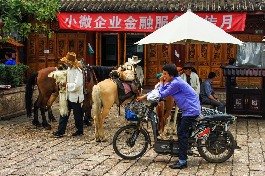Locals in Lijiang, China