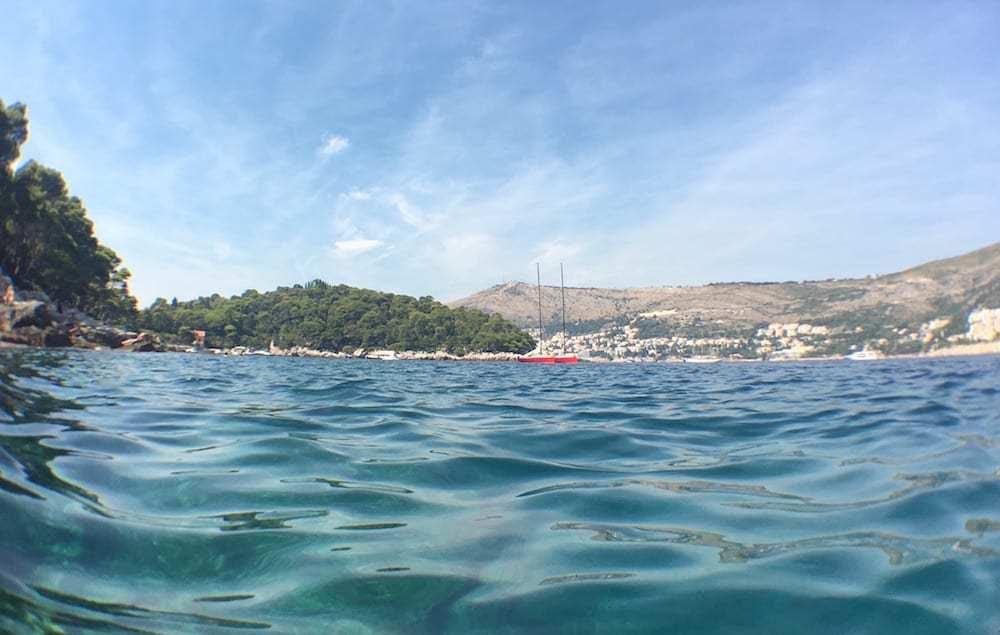 Swimming on Lokrum Island