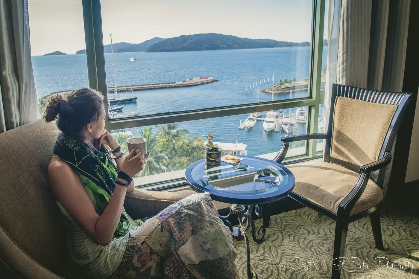 Oksana at the Sutera Hotel in Kota Kinabalu, Malaysia