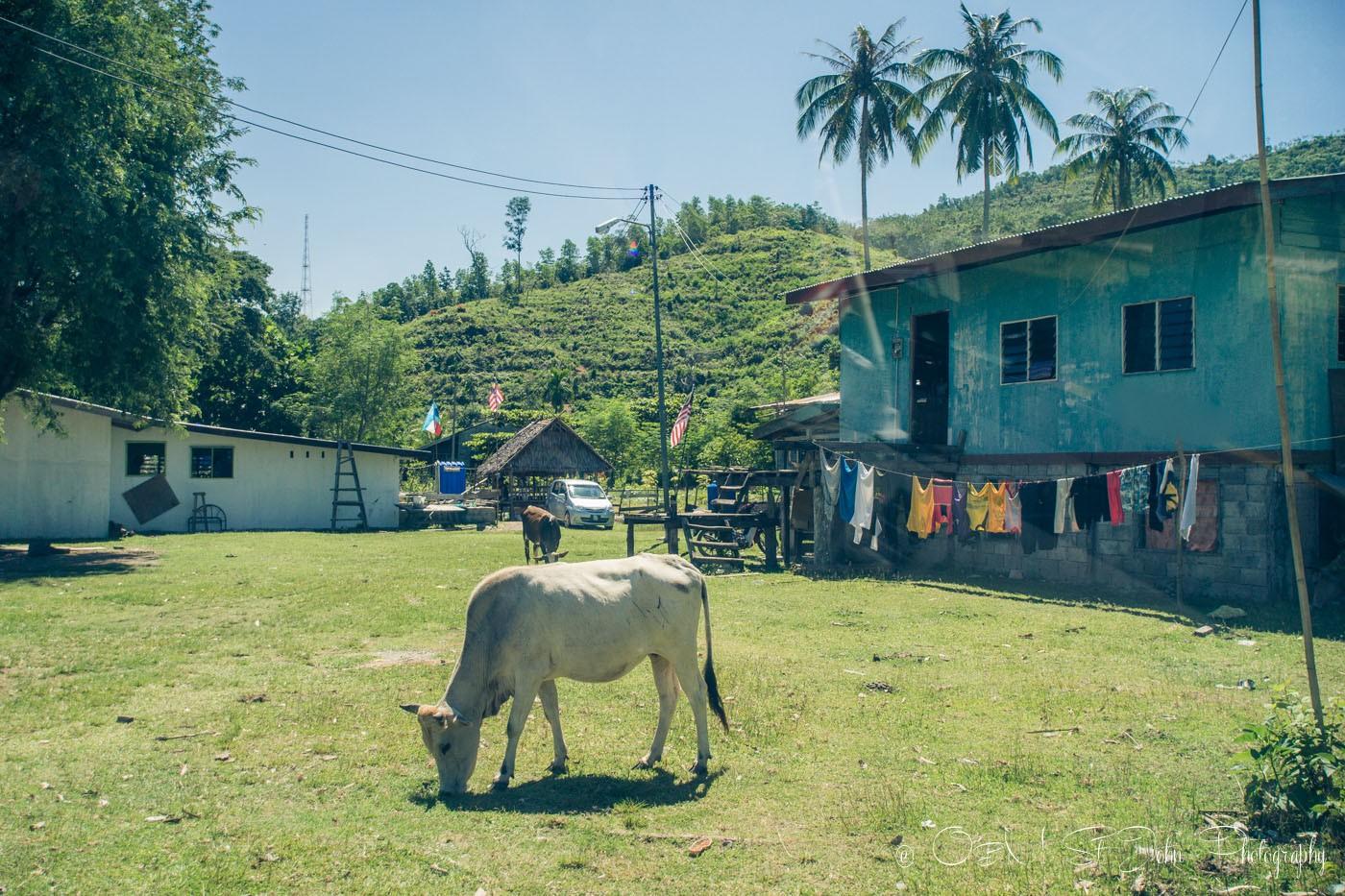 Village of Kampung Pituru Laut, Sabah. Malaysia