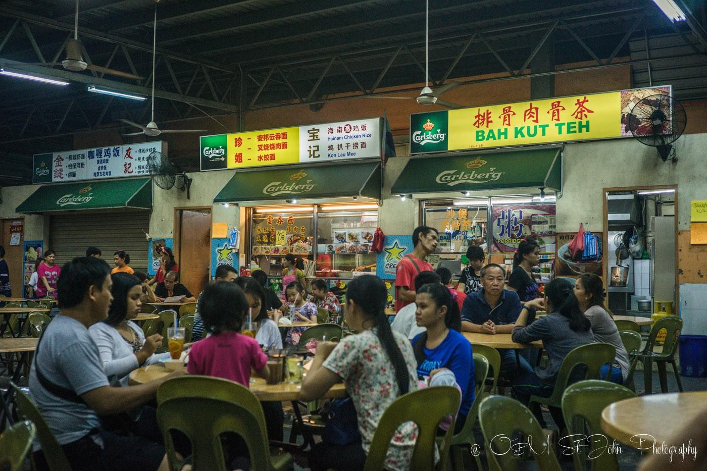 Food stalls in Lido Square. Kota Kinabalu. Sabah. Malaysia