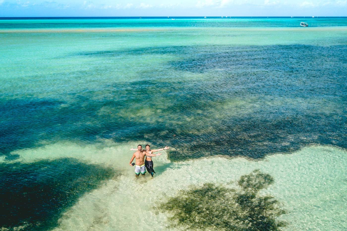 Enjoying crystal clear waters in Yucatan, Mexico