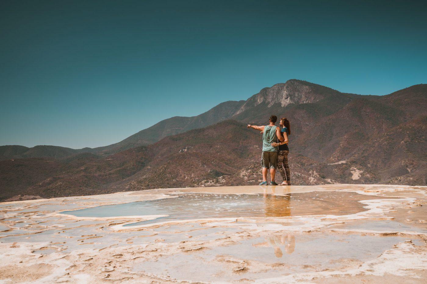 Admiring the views of Hierve el Agua