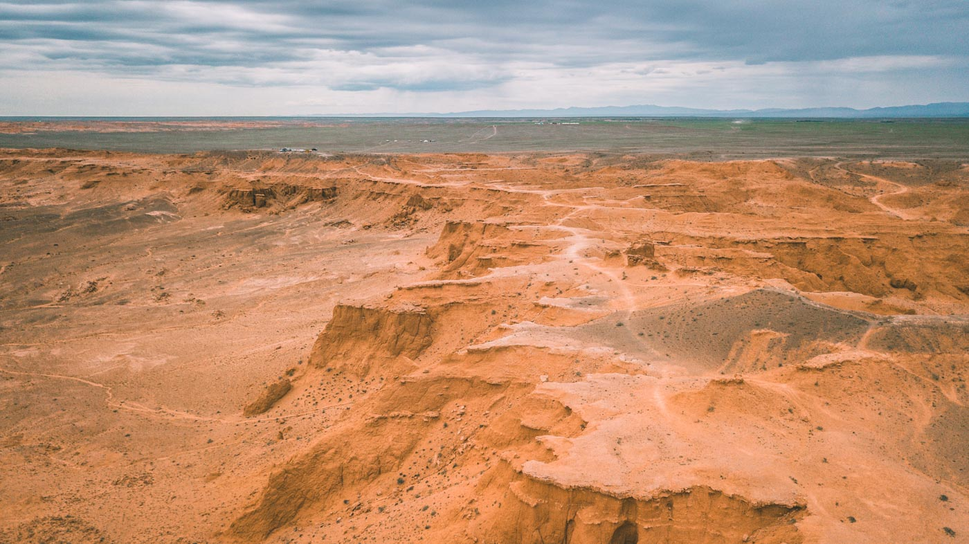 Flaming Cliffs, another set of sand dune formations in the Gobi
