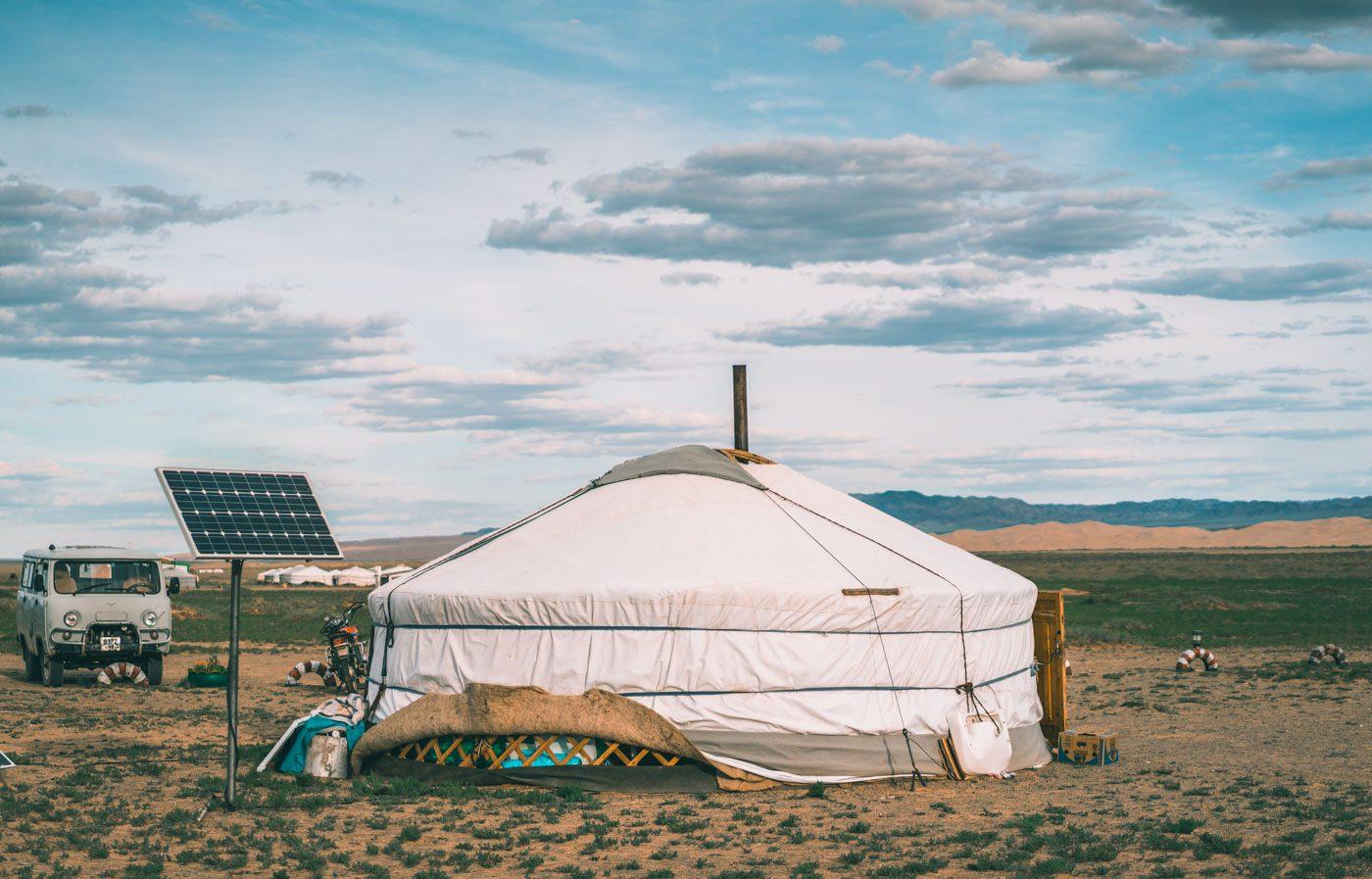 Family ger in Mongolia