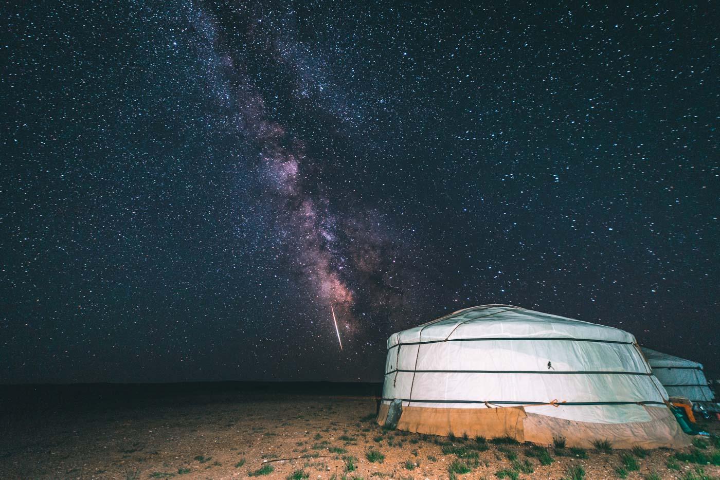 Star gazing in the Gobi Desert was not too shabby either!