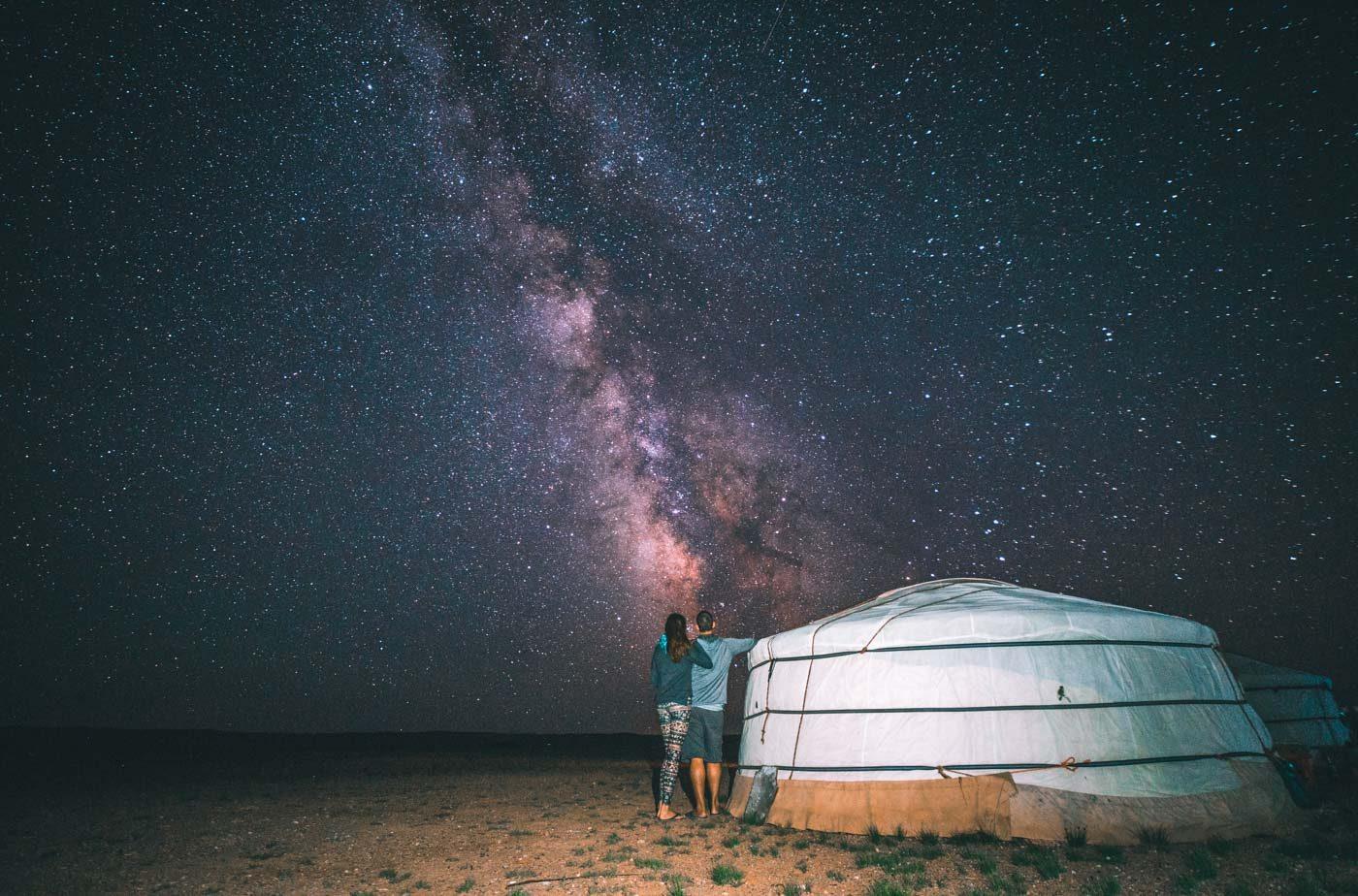 Top 7 destinations around the world: stargazing in the Gobi Desert