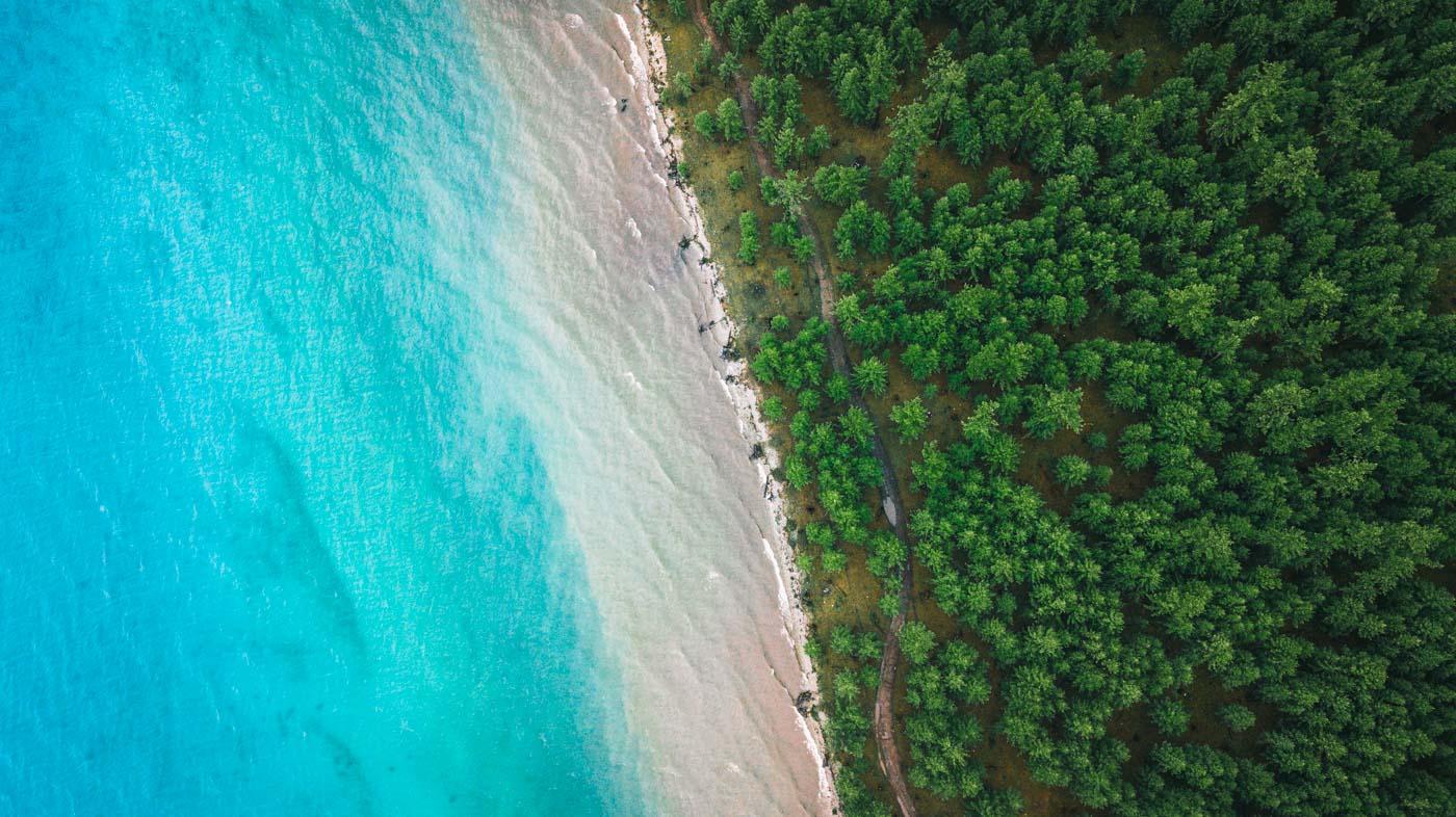 Lake Khovsgol from above