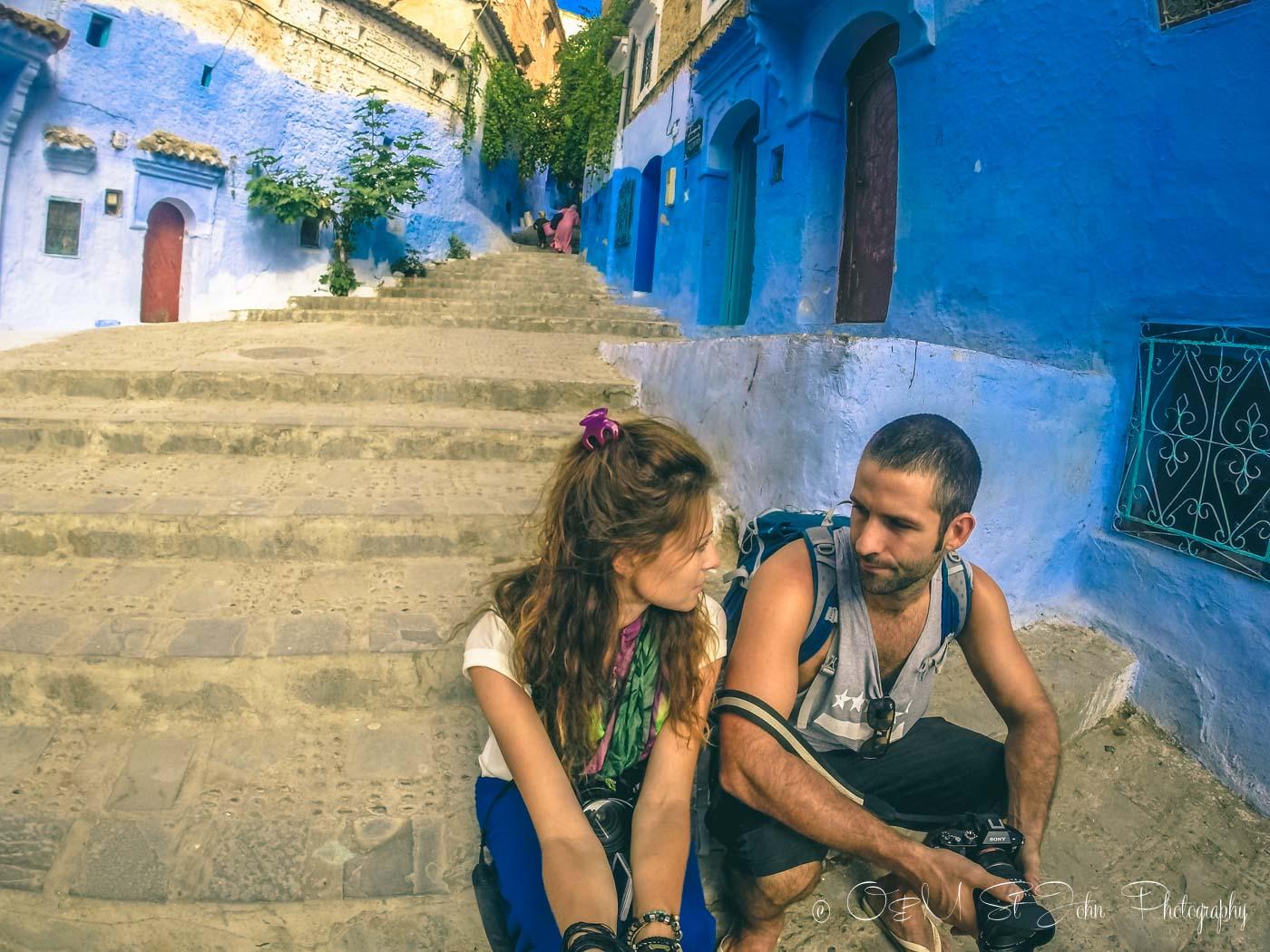 Max & Oksana in Chefchaouen, Morocco