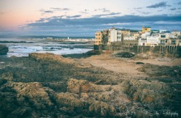 Beautiful view of Essaouira's fortress at sunst. Morocco